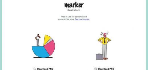 Marker Illustrations es una colección de ilustraciones gratuitas diseñadas a mano
