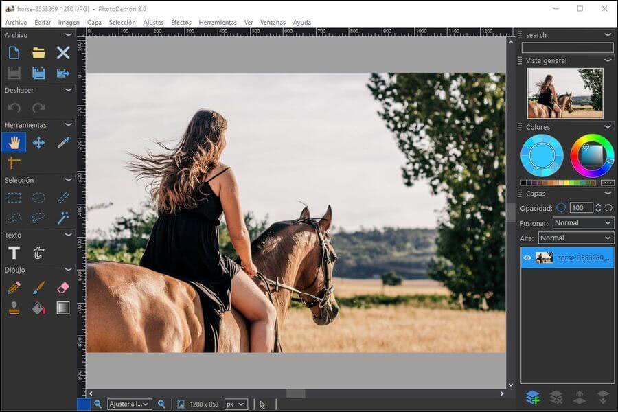 Potente editor fotográfico gratuito para Windows: PhotoDemon