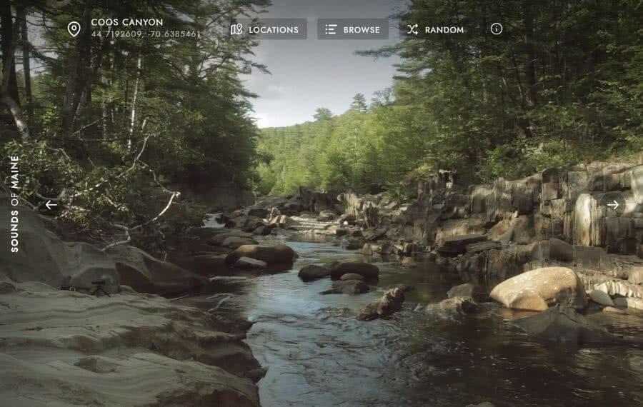 Sounds of Maine: escuchar sonidos relajantes viendo bonitos entornos