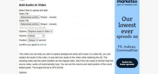 Añadir audio a vídeo online y gratis