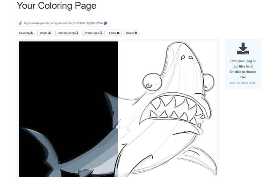 Convertir fotos en dibujos para colorear online y gratis