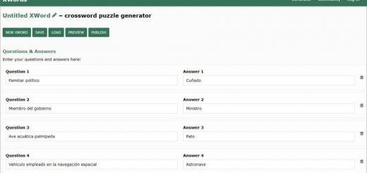 Crear crucigramas online y gratis con XWords