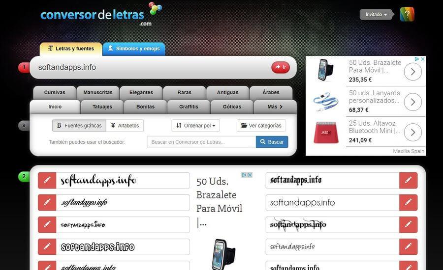 Crear textos cool gratis para redes sociales, mensajería y sitios web