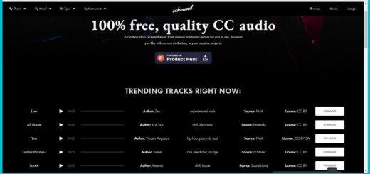 Descargar música gratis en CCHound