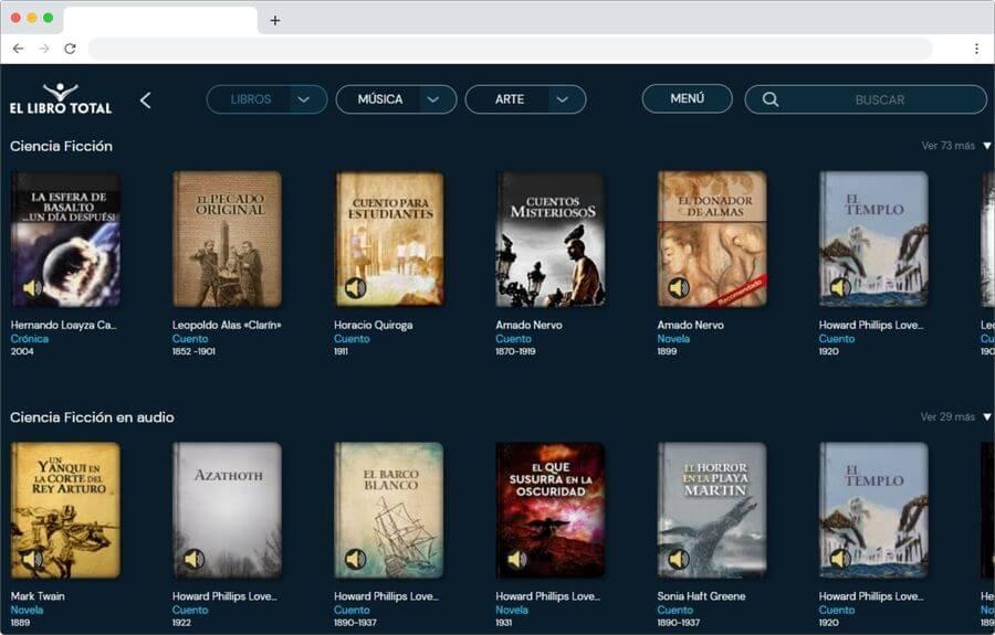 El Libro Total: miles de libros y audiolibros gratuitos para leer y escuchar