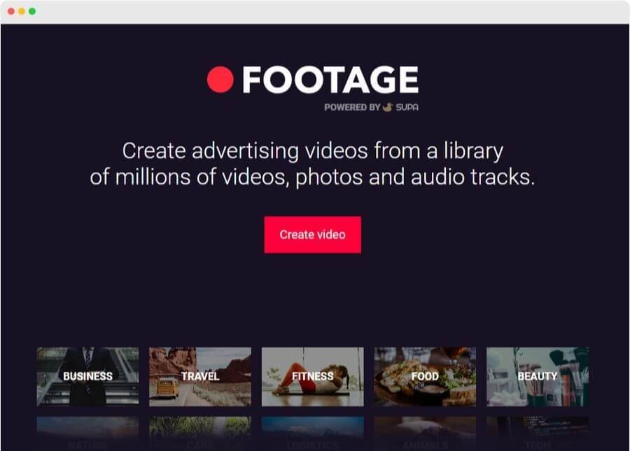 Footage: crear vídeos sociales gratis, online y más fácil que nunca