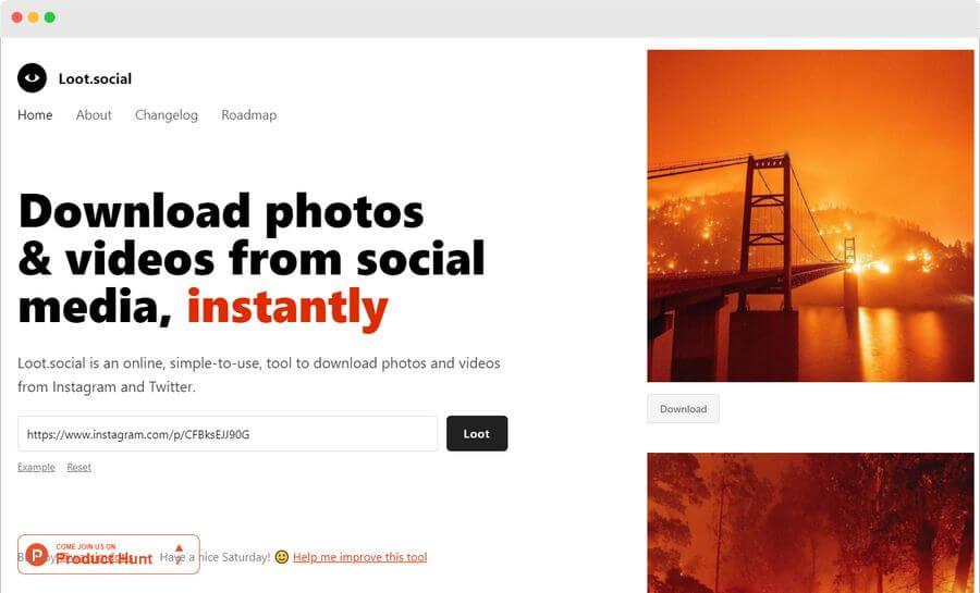 Loot Social: web para descargar imágenes y vídeos de redes sociales