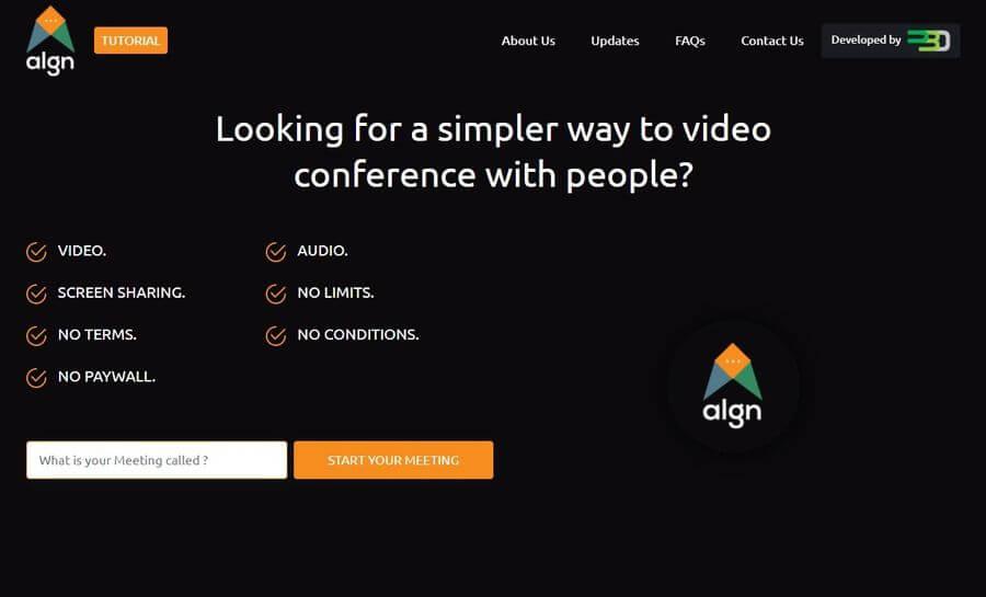ALGN: videoconferencia gratuita sin límite de participantes ni registro