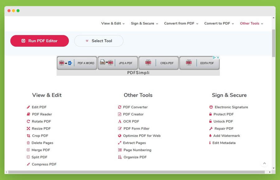 myPDFtools: todas las herramientas necesarias para editar y convertir PDF