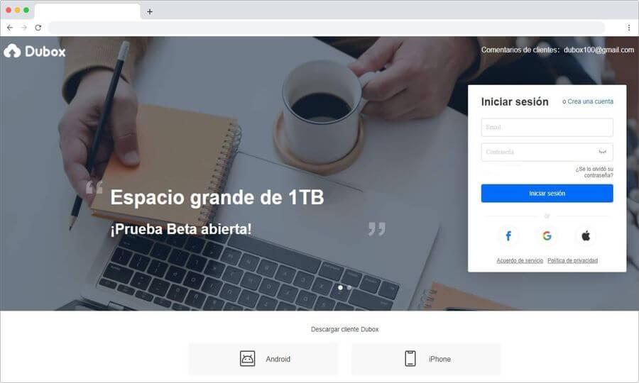 Dubox: consigue 1 TB de almacenamiento online gratuito para tus backups