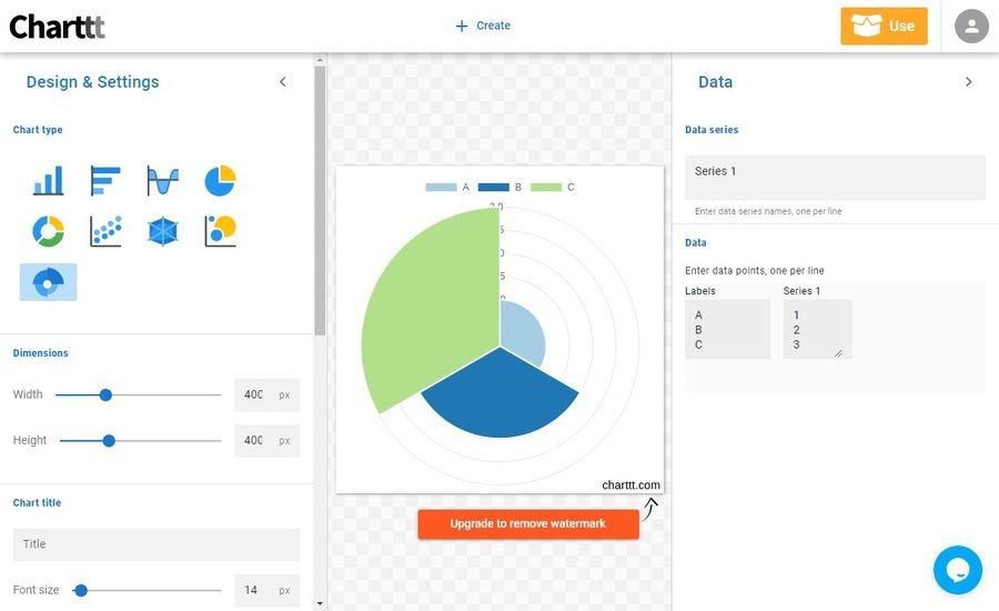 Charttt: web gratuita para crear bonitas gráficas de datos fácilmente