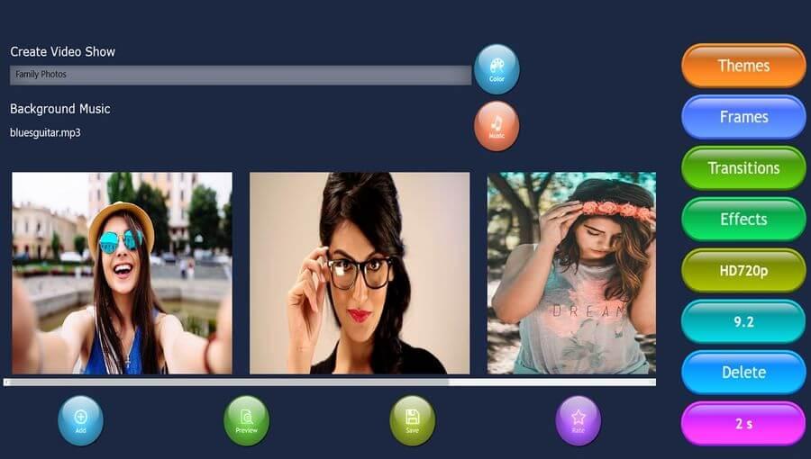 Crear vídeos con fotos y música gratis con esta app para Windows 10