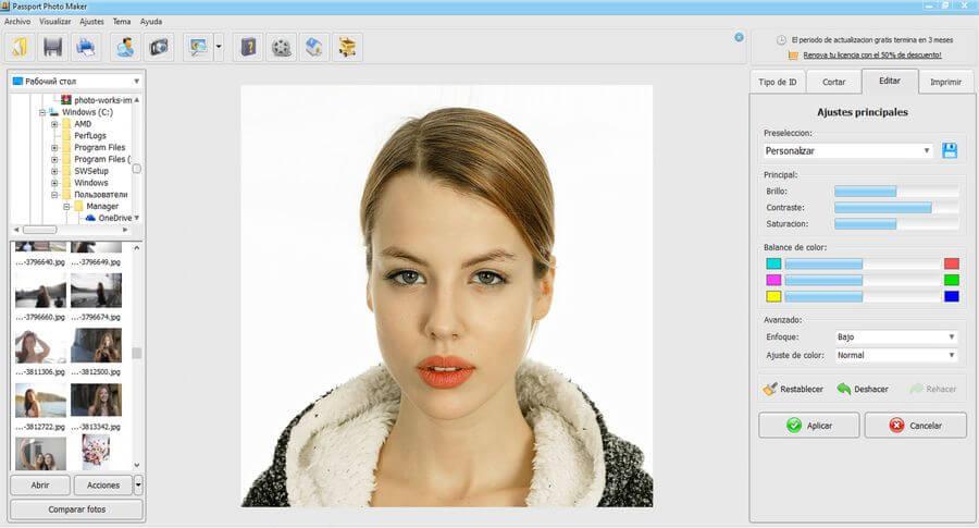 Passport Photo Maker: software para imprimir fotos de carnet y otros documentos
