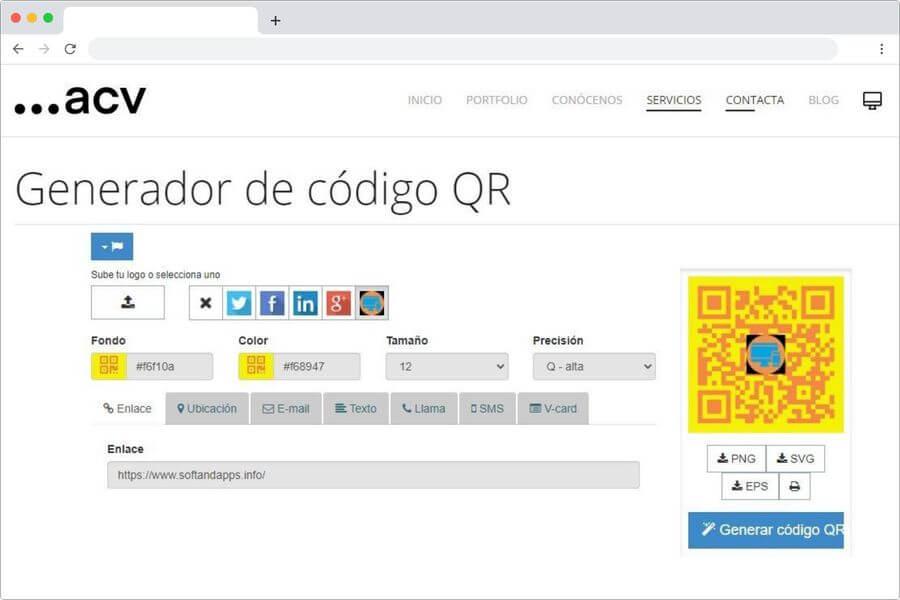 Generador gratuito de códigos QR en línea y muy fácil de usar