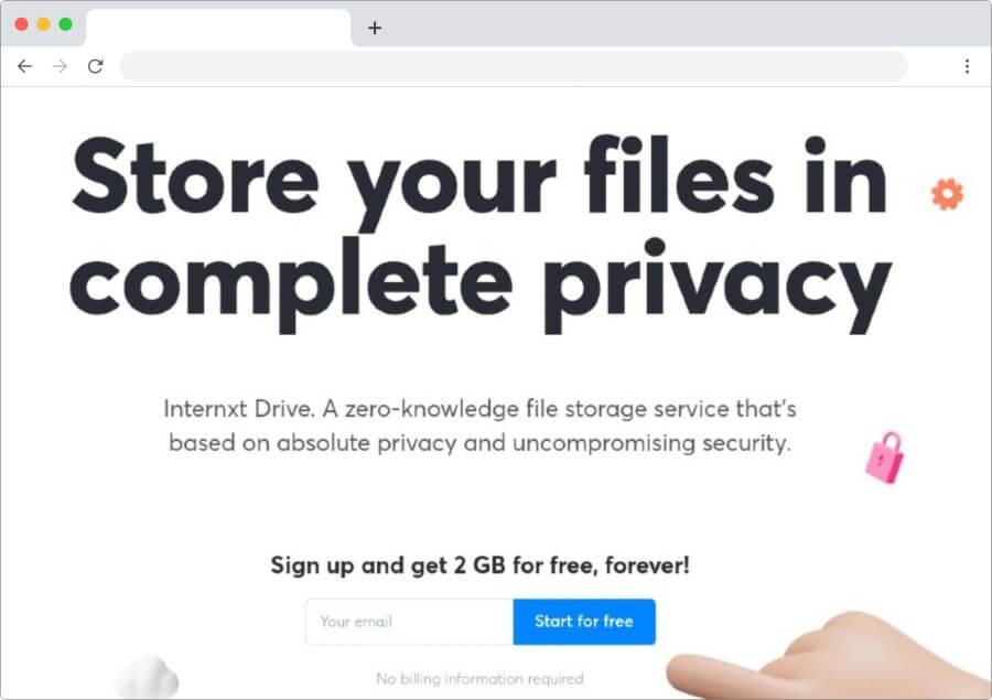 Internxt Drive: almacenamiento en la nube más seguro del mundo