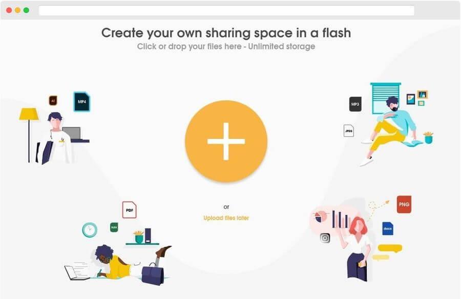 MeeroDrop: disfruta de espacio ilimitado para compartir archivos