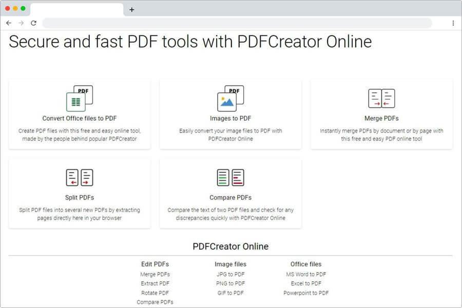 PDFCreator de pdfforge: editar y convertir documentos PDF online y gratis