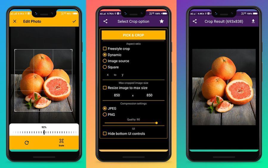Recortar imágenes gratis en Android con la app Crop image