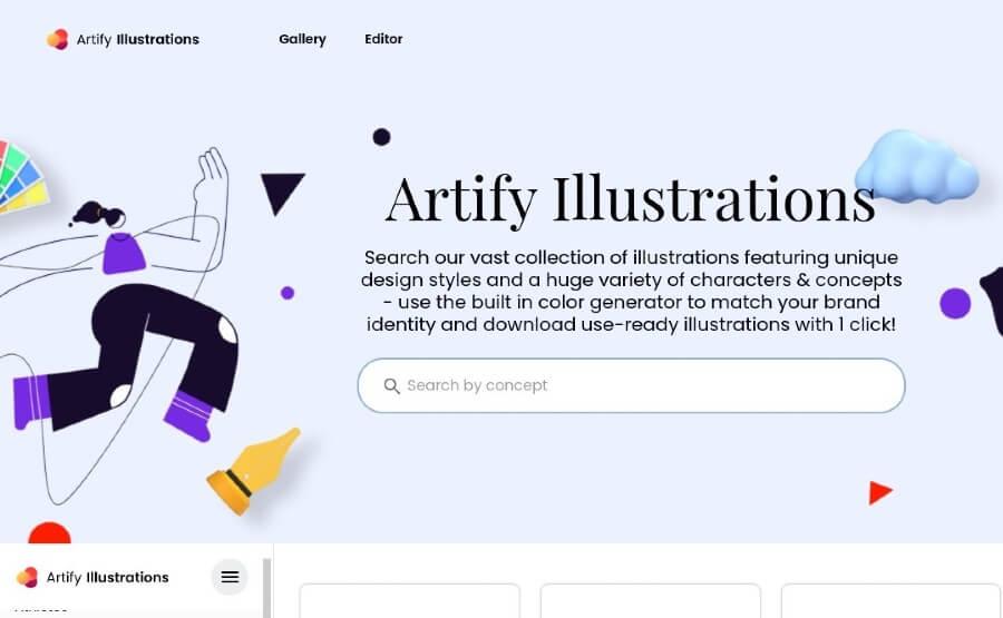 Artify Illustrations: colección de más de 5000 ilustraciones gratuitas