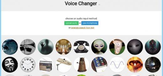 Cambiador de voz online y gratuito