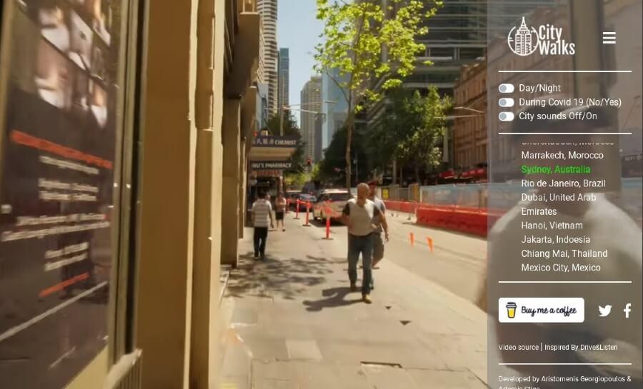 City Walks: realizar paseos virtuales por diversas ciudades del mundo