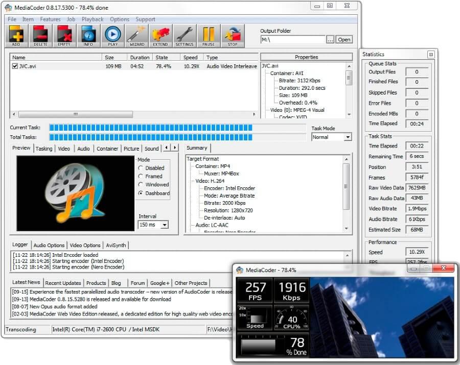 MediaCoder: software gratuito para convertir archivos de vídeo y audio