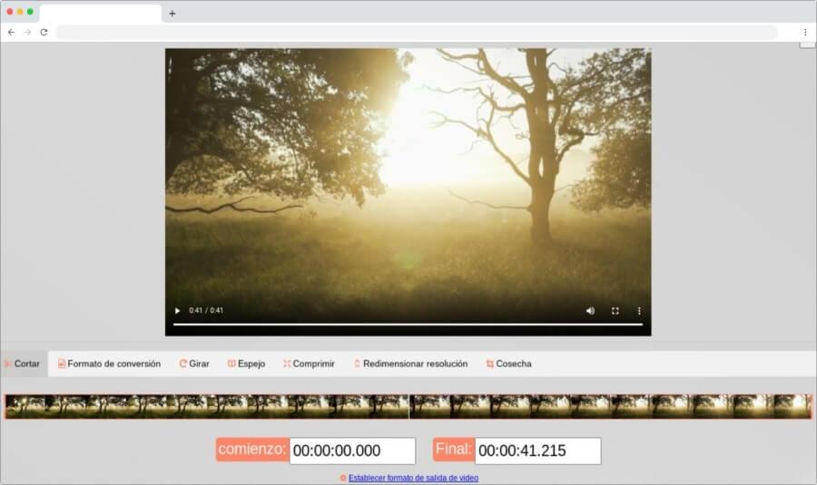 Cortador y convertidor de vídeo online de uso gratuito y sin registro