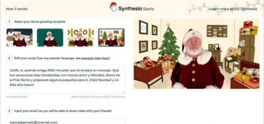 Crear vídeo personalizado de Papá Noel gratis con Synthesia Santa