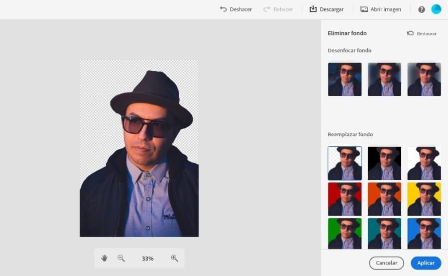 Eliminar fondo con Photoshop Express de forma gratuita
