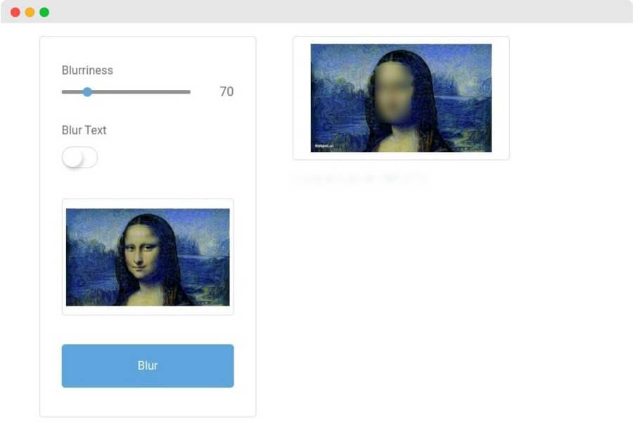 Face Blurrer: herramienta web para difuminar rostros y textos en imágenes