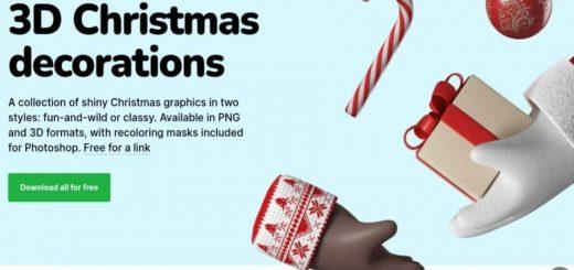 Ilustraciones de Navidad en 3D