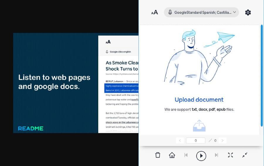 Lector de páginas y documentos gratuito para el navegador Chrome