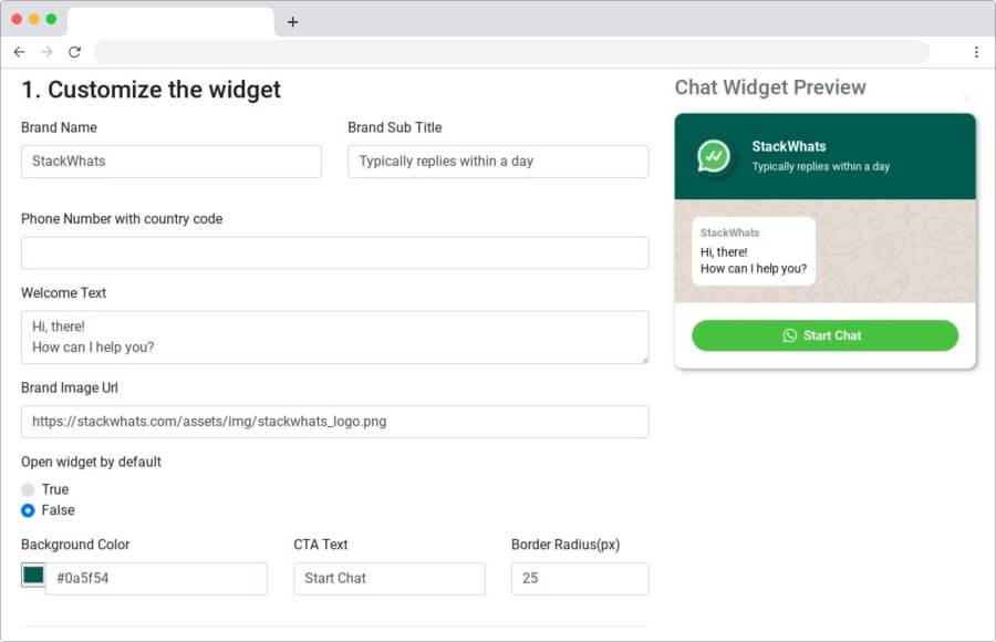 StackWhats: añade un widget a tu página para chat de WhatsApp en vivo