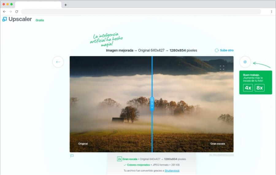 Upscaler: aumenta y mejora tus fotos gratis usando inteligencia artificial