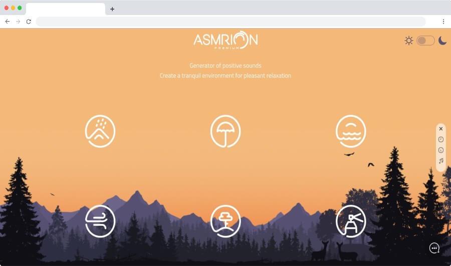 Asmrion: página para escuchar sonidos positivos y alcanzar la relajación