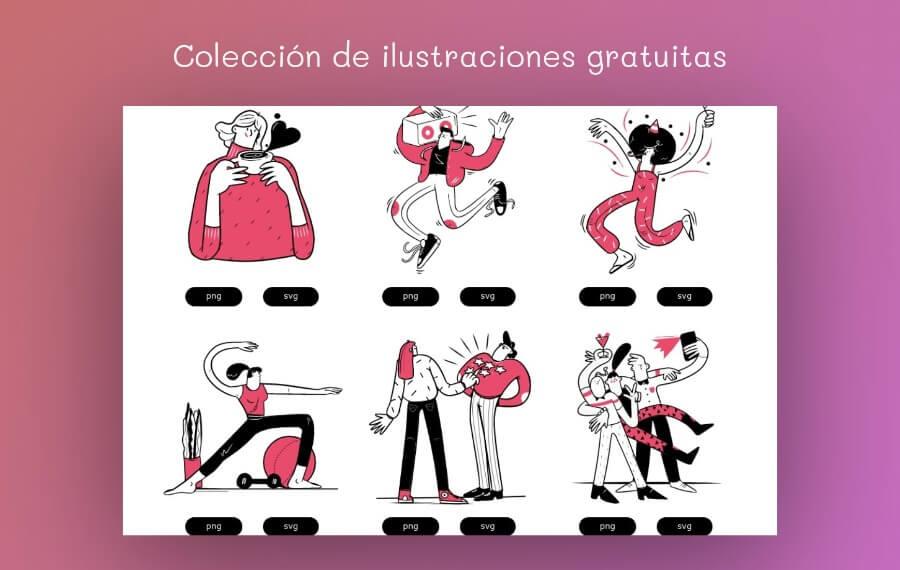 Colección de ilustraciones gratuitas para usar en tus proyectos