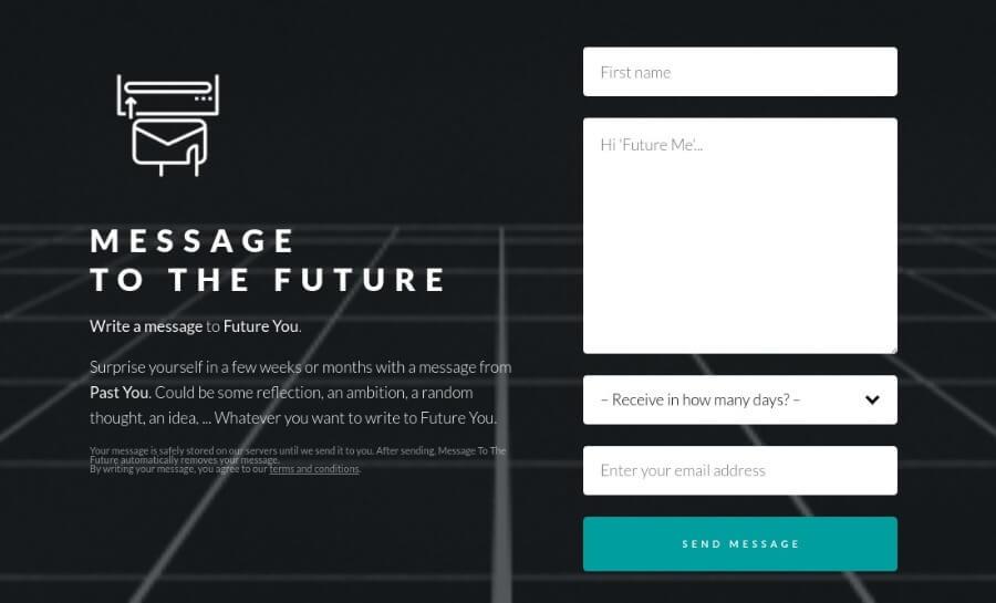 Message to the future: envía correos electrónicos a tu yo del futuro