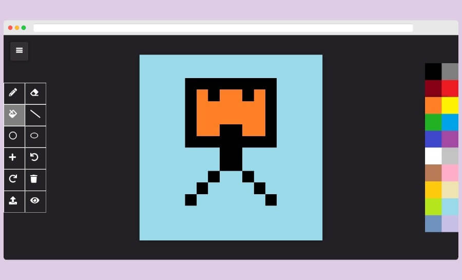 PixelCraft: crea iconos y pixel art fácilmente con este editor web gratuito
