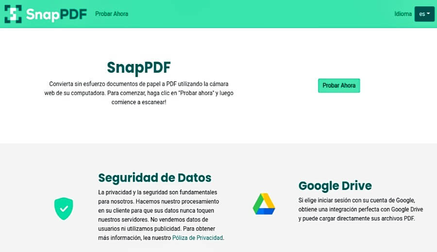 SnapPDF: convertir documentos de papel a PDF usando la webcam