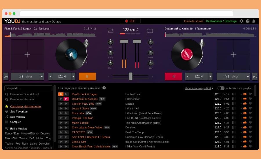 YouDJ: mezcla música de YouTube y SoundCloud online como un DJ