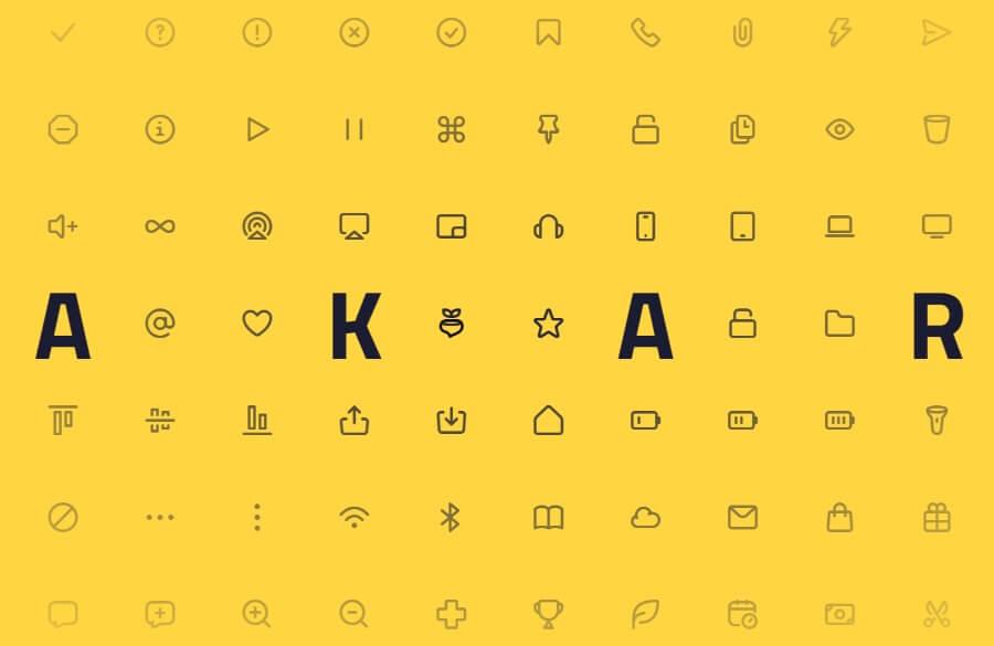 Akar Icons: una librería gratuita de iconos redondeados para tus proyectos