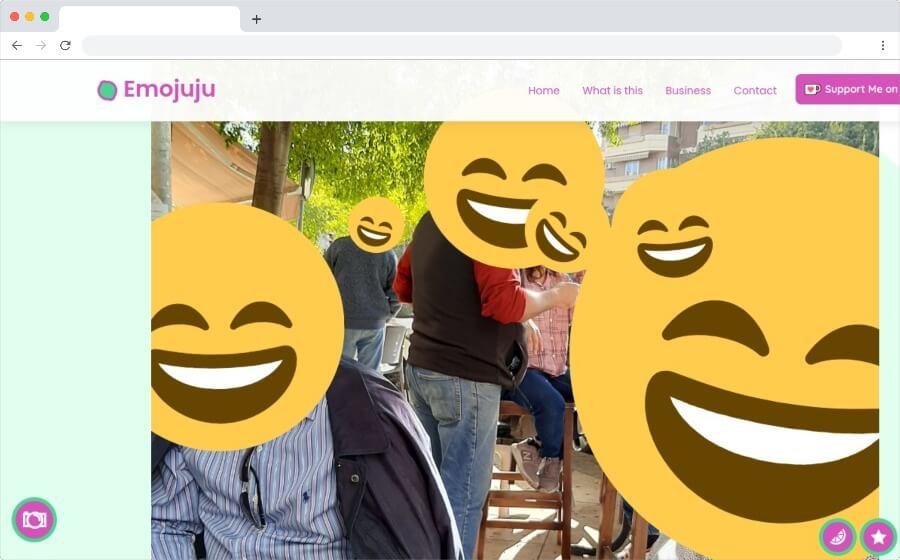 Emojuju: reemplazar las caras en las fotos por emojis de forma automática