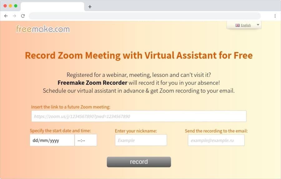 Freemake Zoom Recorder: programa la grabación de sesiones de Zoom