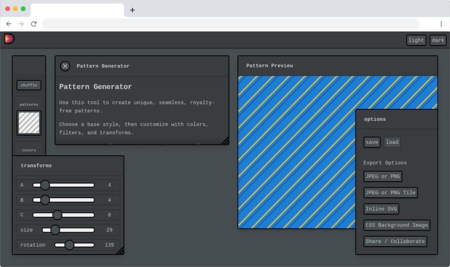 Pattern Generator: crear imágenes gratuitas basadas en patrones