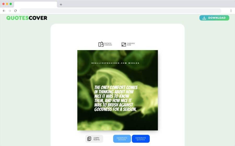 Random Quote Generator: un generador de imágenes con citas o textos