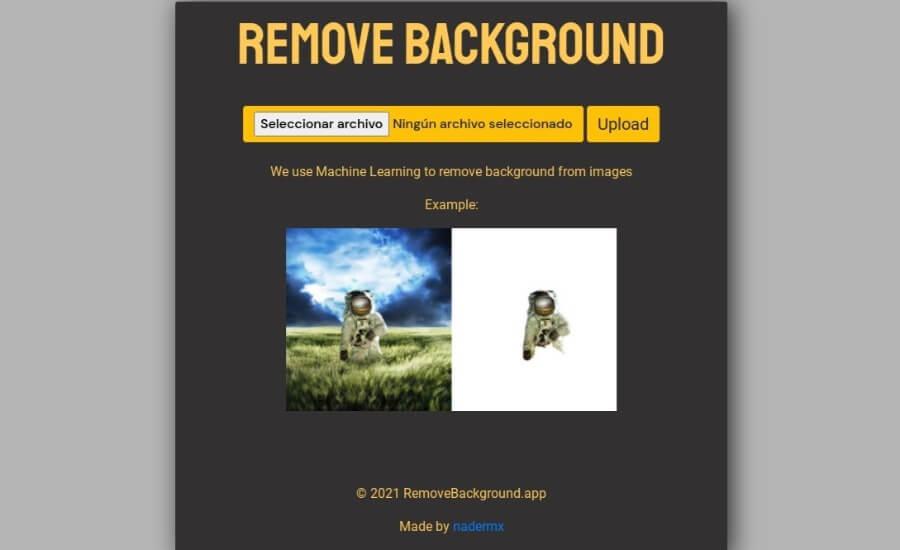RemoveBackground: forma más simple de eliminar el fondo de imágenes