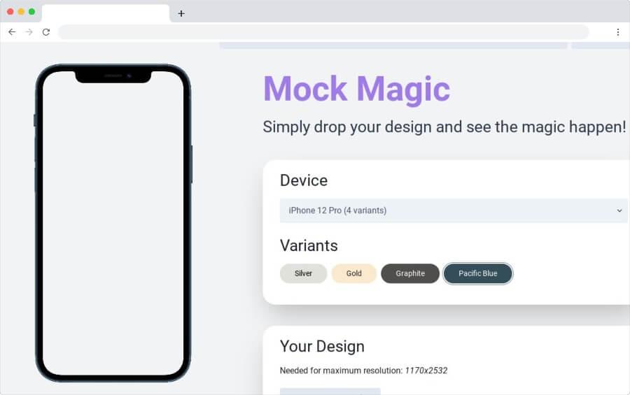 Mock Magic: herramienta web gratis para crear mockups en alta resolución