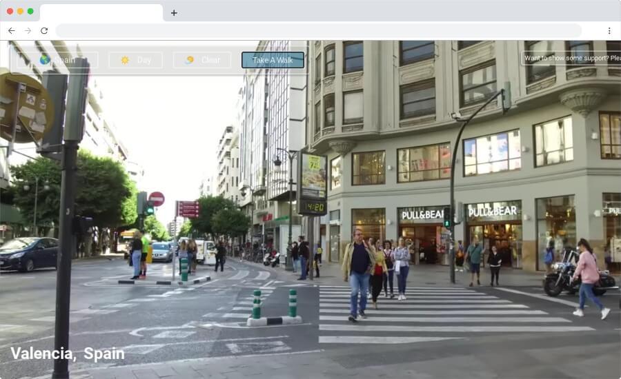 Paseos virtuales por diversos lugares del mundo sin moverte de casa