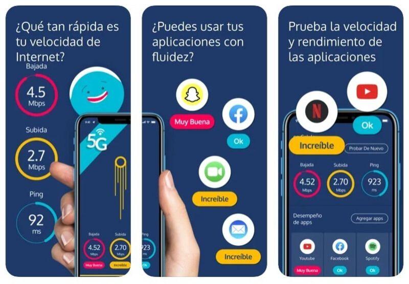 Prueba de velocidad en smartphone con la app gratuita Meteor