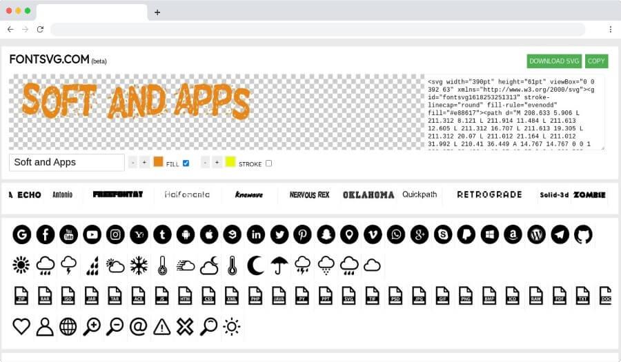 FONTSVG: una herramienta para crear archivos SVG a partir de tus textos